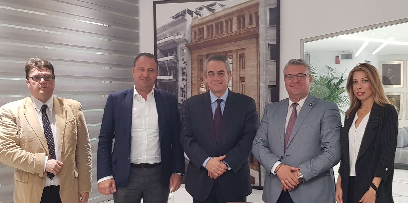 Εικόνα: Συνάντηση του ΔΕΠΑΝ με τον πρόεδρο ΚΕΕ & ΕΒΕΑ Κωνσταντίνο Μίχαλο